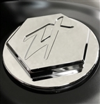 Custom Chrome ZX14 ZX10 Z1000 Smooth 3D Hex Engraved Gas Cap Fuel Lid