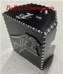 08-15 Hayabusa Custom Black Anodized 3D LARGE Ignition Switch Cover/Cap w/Silver Ball Cut Edges & Engravings