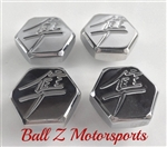Hayabusa Chrome 3D Hex Smooth Triple Tree Bolt Plugs/Covers/Caps