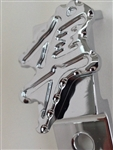 1999-2012 Hayabusa Custom Chrome 3D Ball Cut & Pocketed Engraved Throttle Cable Guide