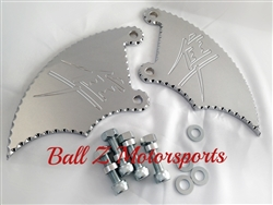 99-07 Hayabusa Chrome Engraved & Ball Cut Front Brake Caliper Covers