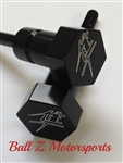 Hayabusa Custom Black Anodized Seat Thumbscrew Bolts w/Silver Ball Cut Edges & Pocketed Engravings