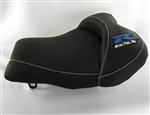 """New Image"" Silver/Blue/Black GSXR 600/750/1000 Custom Shaped & Covered Front Seat"