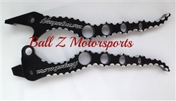 Hayabusa Black Anodized Silver Ball Cut Edges & Laser Etched Hole Shot Brake and Clutch Levers