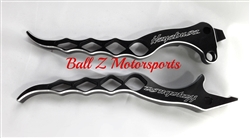Hayabusa Black Anodized Silver Ring Cut Edges & Laser Etched Diamond Brake and Clutch Levers