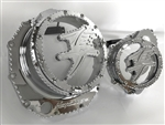 Hayabusa Custom Chrome Huge 3D Ball Clutch Clear See Through Clutch Cover & Stator Cover Set