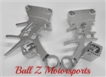 99-07 Hayabusa Chrome Ball Cut Huge 3D Kanji Rear Passenger Foot Peg Brackets