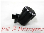 Hayabusa Black/Silver Ball Cut Quick Access Rear Brake Fluid Reservoir!