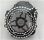 Custom Chrome Ball Cut GSXR 600/7501000 Clear See Through Stator Cover