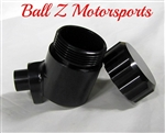 Hayabusa Smooth Solid Black Quick Access Rear Brake Fluid Reservoir!