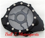 Hayabusa B-King Custom Billet Black Anodized Wicked Stator Cover