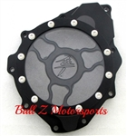 Hayabusa B-King Custom Billet Black Wicked Stator Cover w/Logo