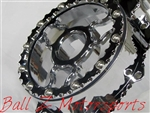 Hayabusa B-King Custom Billet Chrome See Through Ball Cut Wicked Stator Cover