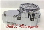 Custom Chrome Ball Cut 09-15 GSXR 600/750 Clear See Through Stator/Starter Cover
