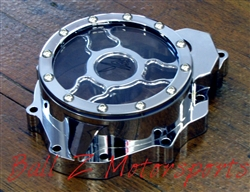 Hayabusa B-King Custom Billet Chrome See Through Smooth Wicked Stator Cover
