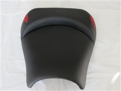 Black with Burgandy Embroidered Kanji Logos Custom Driver and Passenger Seats
