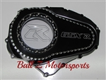 Custom Black/Silver Ball Cut 09-14 GSXR 1000 See Through Clutch Cover