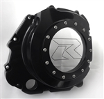 GSXR 600/750/1000 Black Anodized See Through Clutch Cover w/Etching