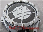 Custom Chrome Ball Cut Hayabusa See Through Stator Cover w/Metal Kanji Cut Out