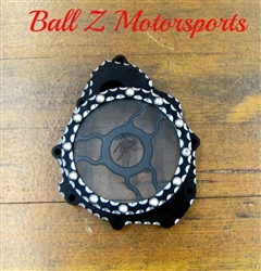 "Custom Black/Silver Contrast Ball Cut Hayabusa See Through Wicked Stator Cover ""Clear"""
