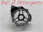 "Custom Black/Silver Ball Cut Hayabusa / B-King See Through ""Clear"" Wicked Stator Cover"
