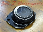 "Custom Black Anodized Hayabusa See Through Wicked Clutch Cover ""Clear"""