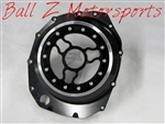 Custom Hayabusa Black/Silver Ring See Through Wicked Clutch Cover w/Logo