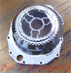 "Custom Chrome Hayabusa See Through Wicked Clutch Cover ""Clear"""