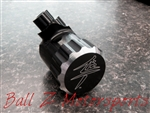Hayabusa Black/Silver Ring Laser Etched Ball Z Logo Quick Access Rear Brake Fluid Reservoir!