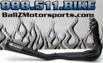 Kawasaki ZX14 Brock's Performance Black Ceramic Coated Full Alien Head Exhaust System!