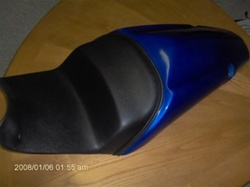 Custom Shaped/Covered ZX14R Drag Racing Seat