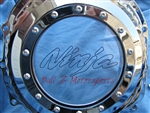Chrome Ball Cut ZX14 See Through Clutch Cover w/ Ninja Logo