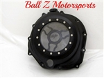 ZX-14 Solid Black Ninja Logo Wicked See Through Clear Clutch Cover