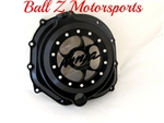 ZX-14 Solid Black 3D Ninja Logo See Through Clear Clutch Cover