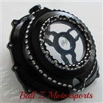 ZX14 ZX14R Black Ball Cut Wicked Ninja Logo See Through Clear Clutch Cover