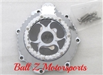 Custom Billet Chrome Ball Cut See Through Six Finger Stator Cover
