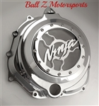 Chrome ZX14 ZX14R See Through Clutch Cover w/3D Ninja Logo