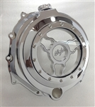 Chrome ZX14 Wicked See Through Clutch Cover w/Ninja Logo