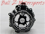 ZX14 Custom Billet Black Ball Cut See Through Six Finger Stator Cover