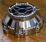 Custom Billet Chrome See Through Wicked Ball Cut Stator Cover