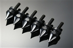 6  Black Anodized Silver Grooved  5mm Collar Small Fairing Spike Bolts