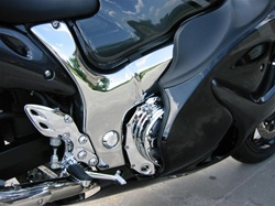 Hayabusa Chrome Frame Covers