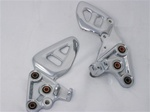 99-07 Hayabusa Chromed Stock/OEM Front Foot Peg Brackets