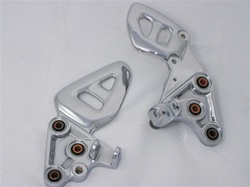 99-07 Hayabusa Chromed Stock/OEM Front Foot Peg Brackets (OUTRIGHT)
