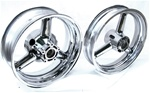 Chromed Stock/OEM Hayabusa Front/Rear Wheels