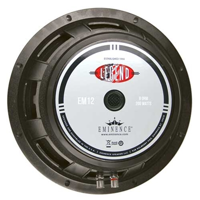 "Eminence Legend EM12 12"" high power  guitar speaker"