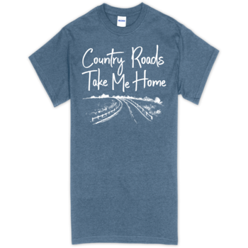 SC Soft Country Roads Front Print - Heather Indigo