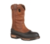 Georgia Boots Mens Brown 11-Inch Wellington CC Pull On Work Boot