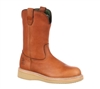Georgia Boots Mens Tan 10-Inch Farm and Ranch Wellington Work Boots