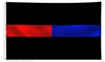 Thin Red & Blue Line Flag Solid